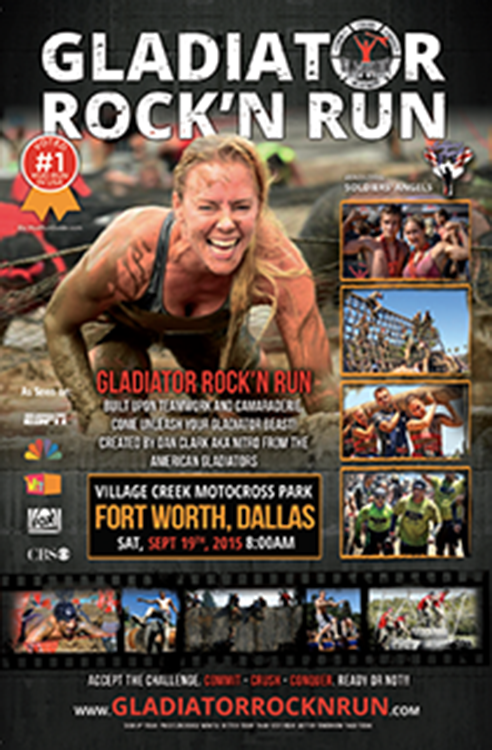 Gladiator Rock N' Run Dallas/Ft. Worth 2015 benefiting Soldiers' Angels