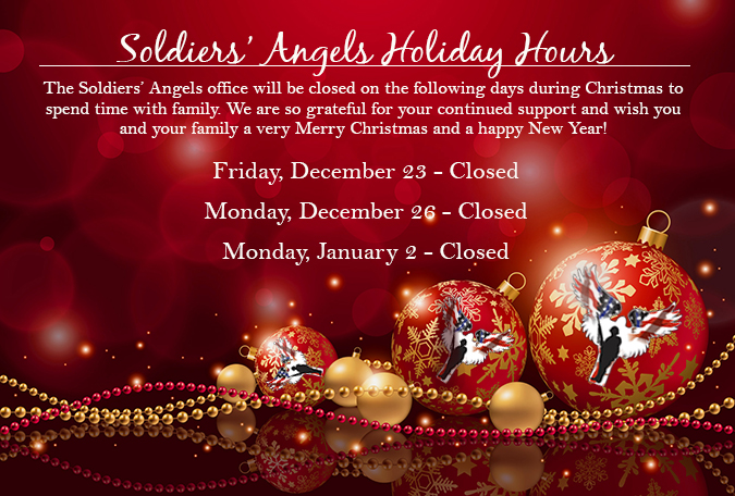 the soldiers angels office will be observing the following holiday hours after the new year to allow employees to spend time with family