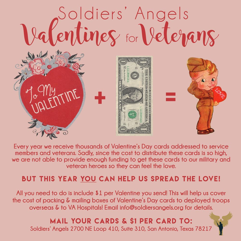 Soldiers angels valentines for veterans share the below image on your social channels and encourage your friends to share the love with our troops and veterans this valentines day kristyandbryce Image collections