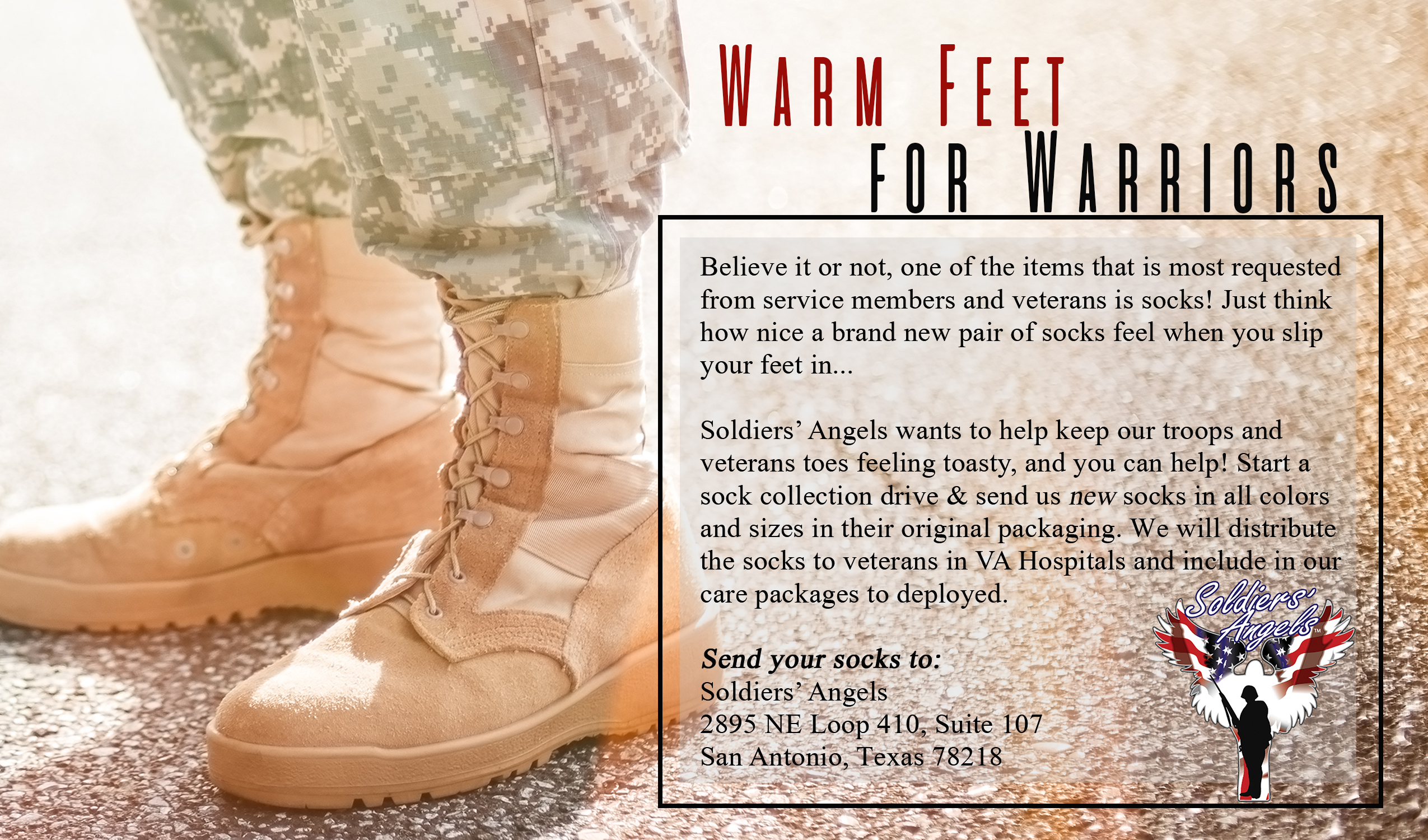 Soldiers' Angels - Warm Feet for Warriors