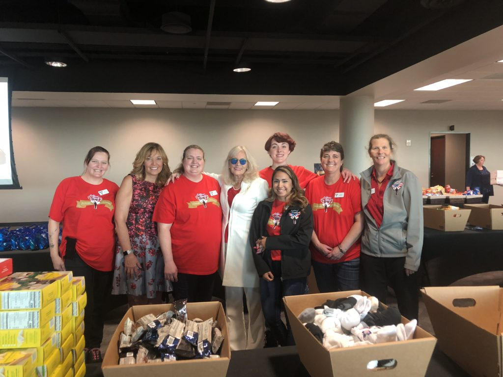 Soldiers' Angels Volunteers at Packing Event