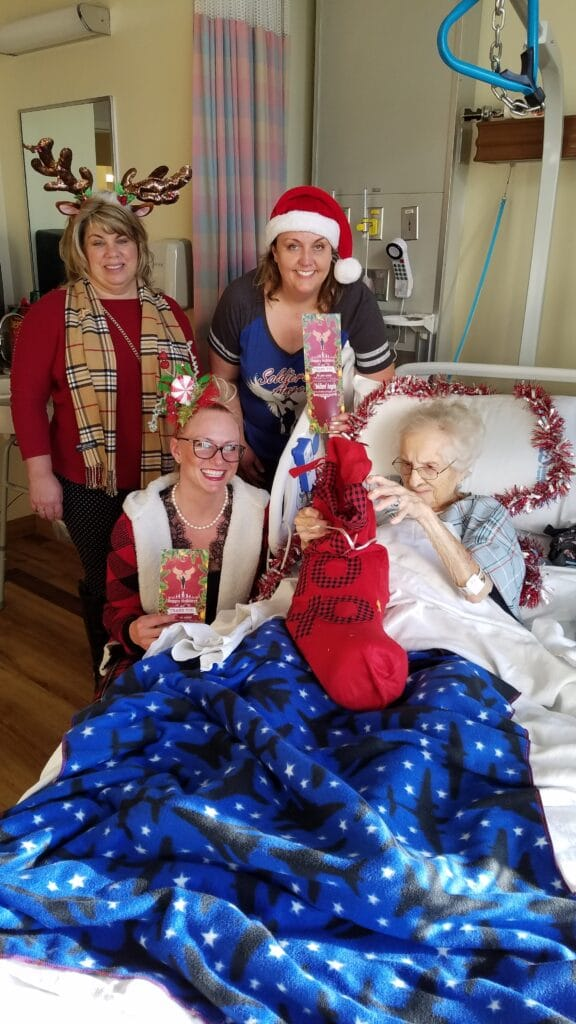 102 year old veteran receives Holiday Stockings for Heroes