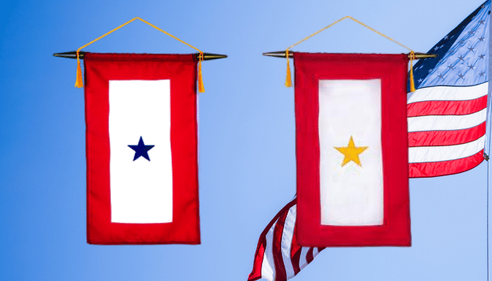 Gold star and blue star banners