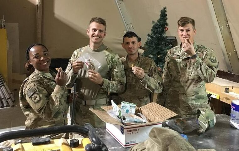 When you adopt a service member, your support is often shared throughout that service members unit. Many service member do not receive support from home, so one care package can cause a lot of excitement from everyone!
