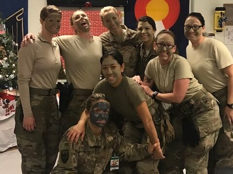"""Wanting to do something special for these ladies, their Chaplain arranged for a """"Girls Night Out."""" Angel volunteers sent makeup and pampering supplies along with snacks to help these ladies have a relaxing Girls Night."""