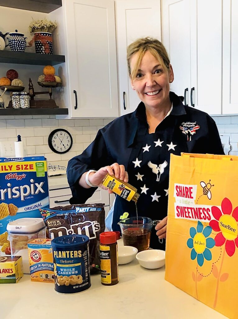 Angel Bakers create care packages full of delicious treats for our troops.