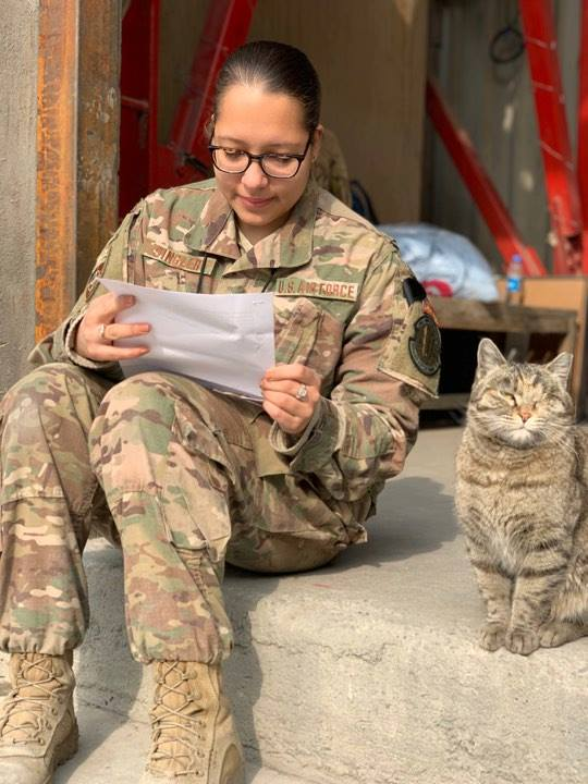 Letters from home provide a boost of morale for all deployed, especially those that may not otherwise receive support from home.