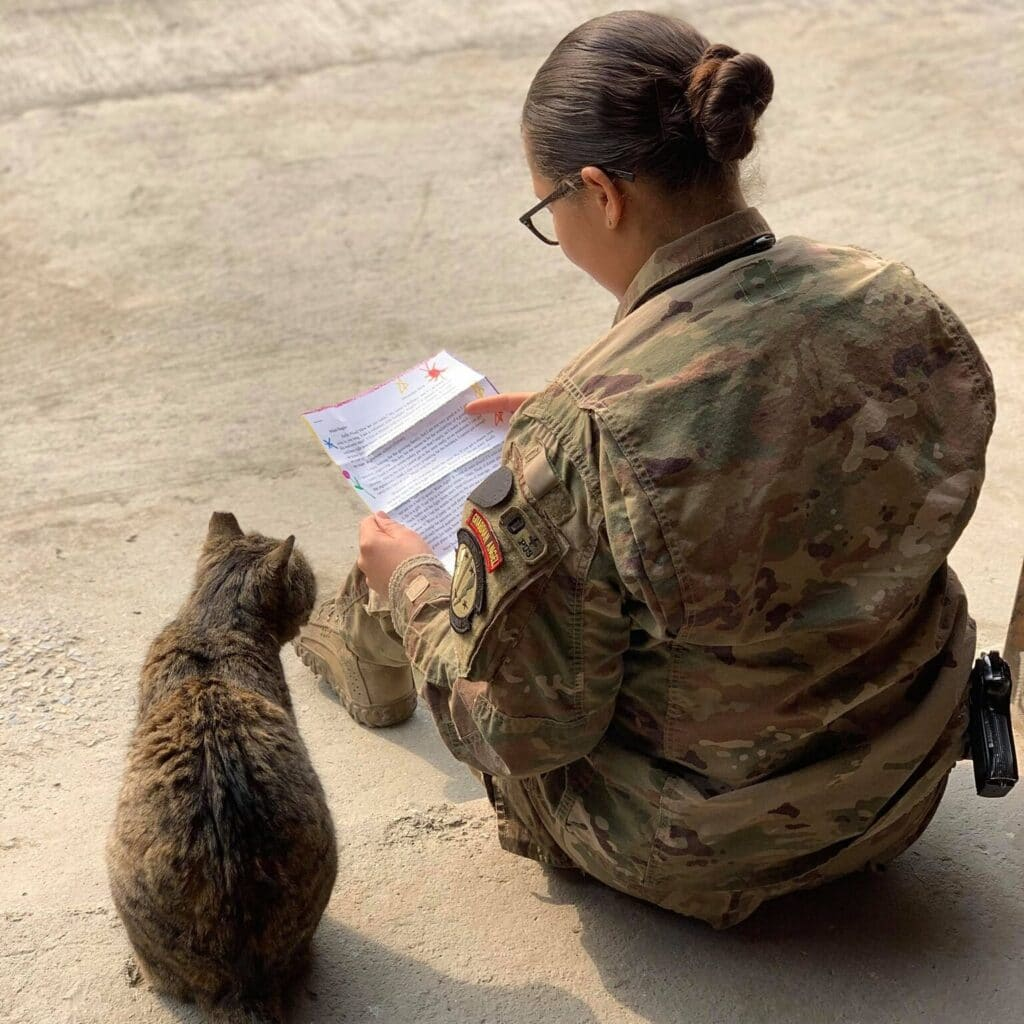 Letters help deployed service members stay connected to what is happening at home and also boost morale as they know America supports them.