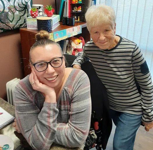 Female caregivers Anessa and Marlene